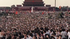 Demonstration in Tiananmen Square