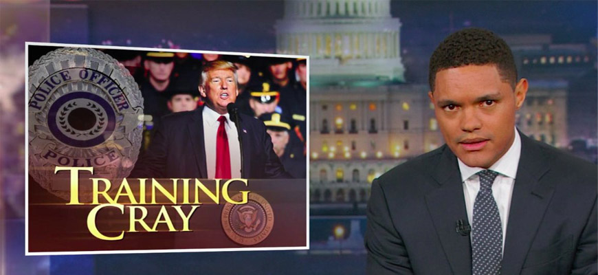 Trevor Noah Reacts To Trump's Call To Rough Up Suspects